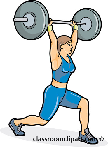 370x500 Weight Lifting Clip Art