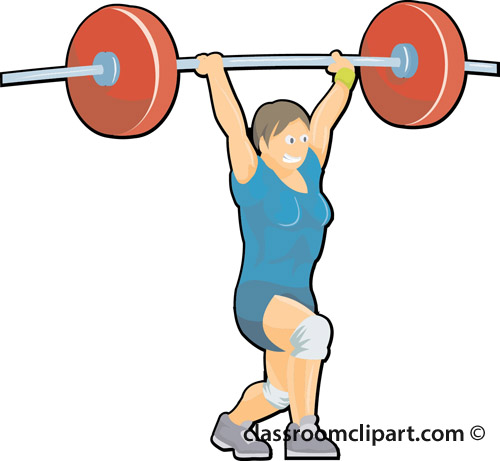 500x461 Weight Lifting Clipart