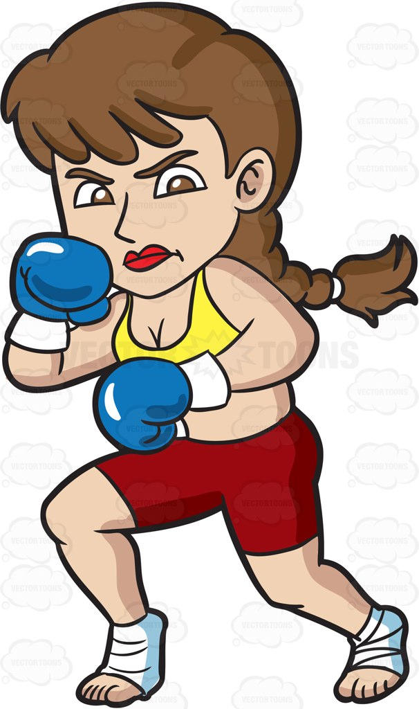 606x1024 A Woman Boxing Her Way To Fitness Women Boxing, Vector Clipart