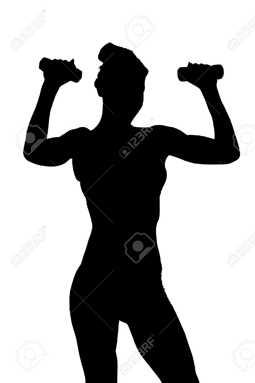 866x1300 Women Weight Lifting Silhouette Clip Art Cliparts