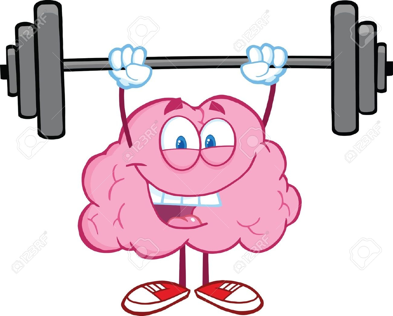 1300x1047 Brain Lifting Weights Clipart