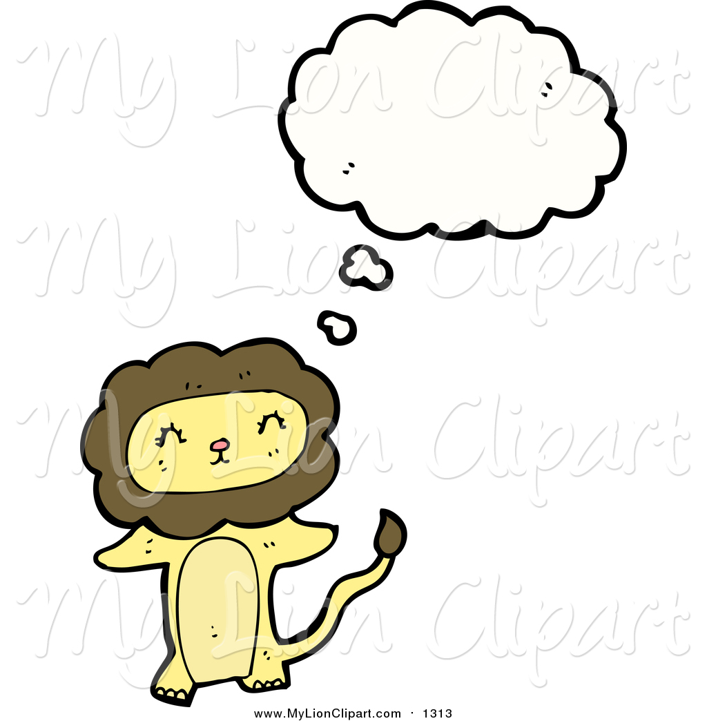 1024x1044 Clipart Of A Thinking Lion By Lineartestpilot