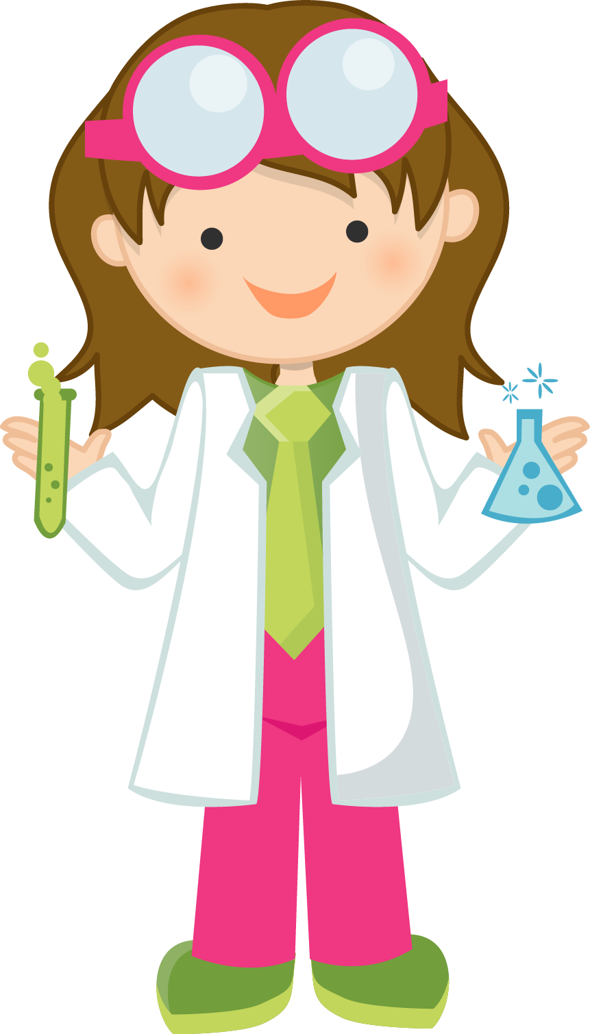 861x1510 Girl Scientist Clip Art