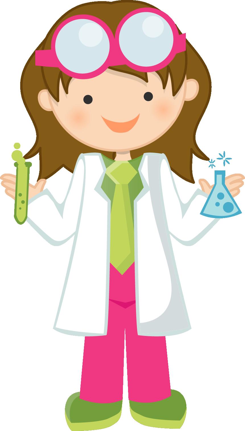 861x1510 Girl Scientist Clip Art