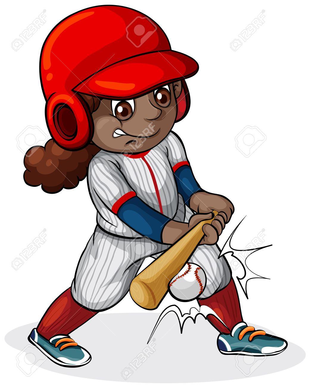 1041x1300 1,712 Baseball Girl Stock Illustrations, Cliparts And Royalty Free
