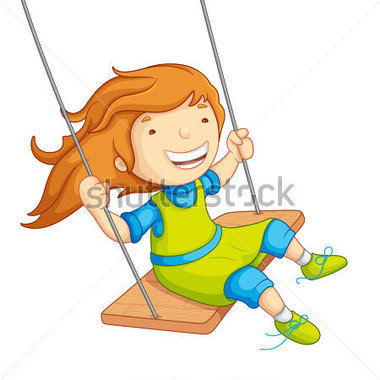 380x380 Girl On Swing Clipart 2059979