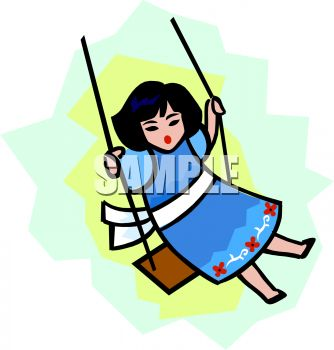 334x350 Girl Playing On A Swing