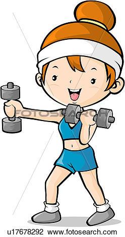 248x470 Girl Exercising Clipart