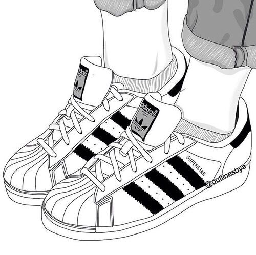 500x498 Adidas Clipart Drawing