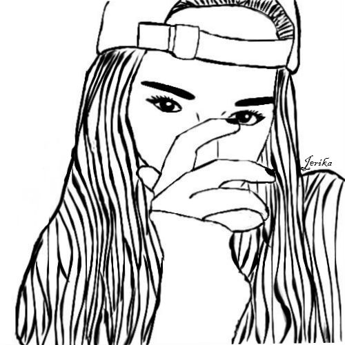 500x500 Tumblr Girl Outline By Jerikamojica