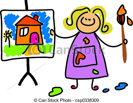 450x350 Painting Clipart Child Painting