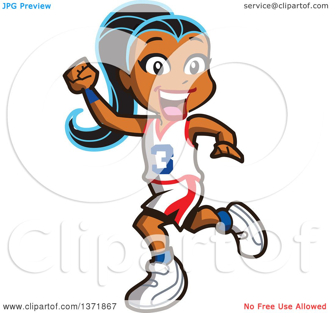1080x1024 Clipart Illustration Of A Mean Caucasian Basketball Player