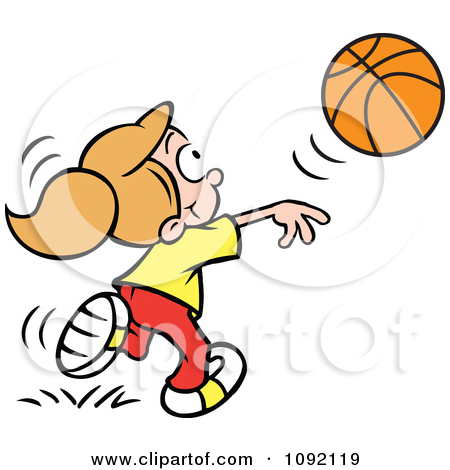 450x470 Girl Shooting Basketball Clipart