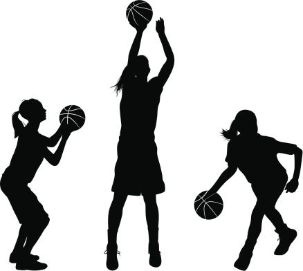 438x392 Girls Basketball Silhouette Clip Art Images