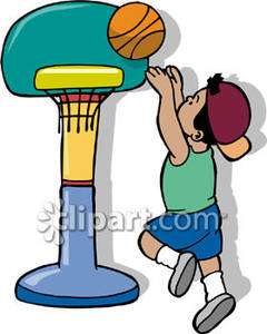 240x300 Playing Basketball Clipart