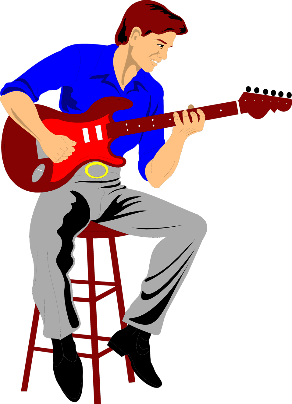958x1326 Free Playing Guitar Clipart Image