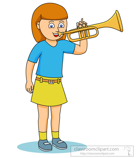 481x550 Playing Trumpet Clipart