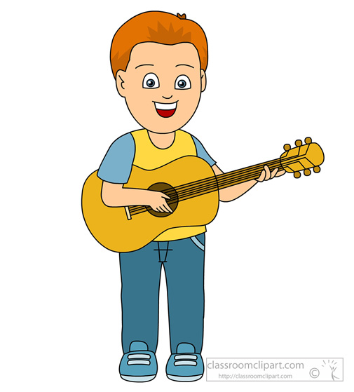 505x559 Playing The Guitar Clipart