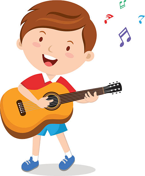 505x612 Boy Playing Guitar Clipart