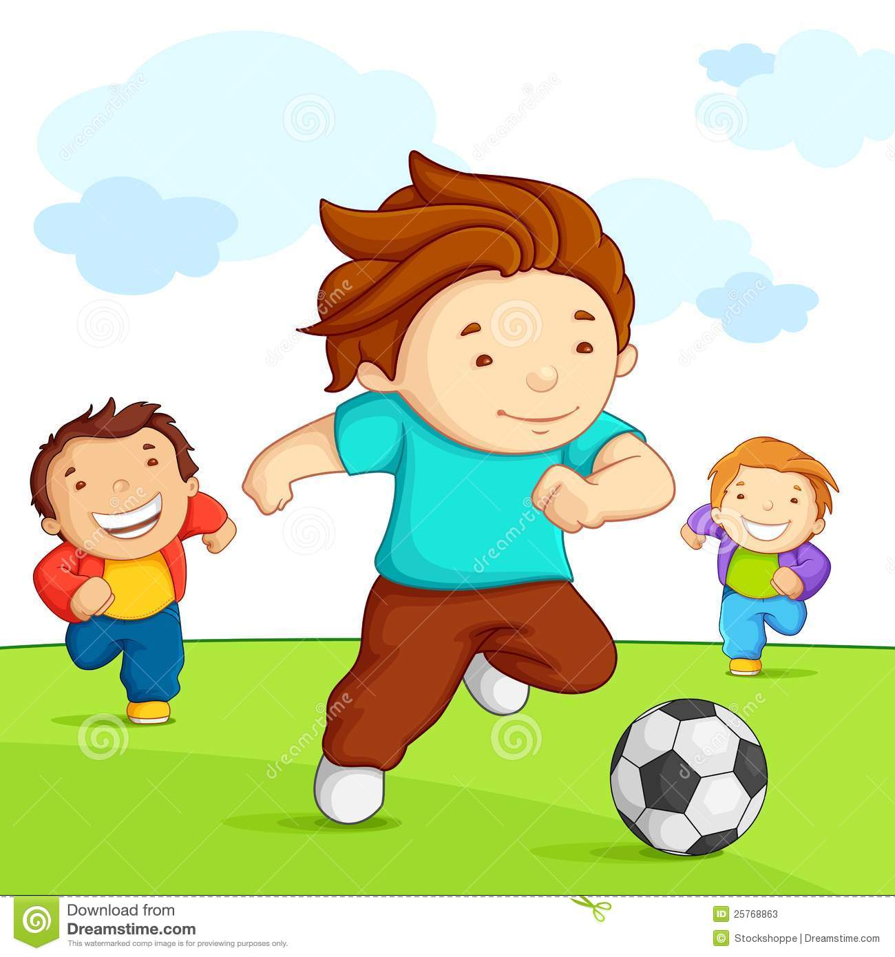 1300x1390 Kids Playing Football Clipart