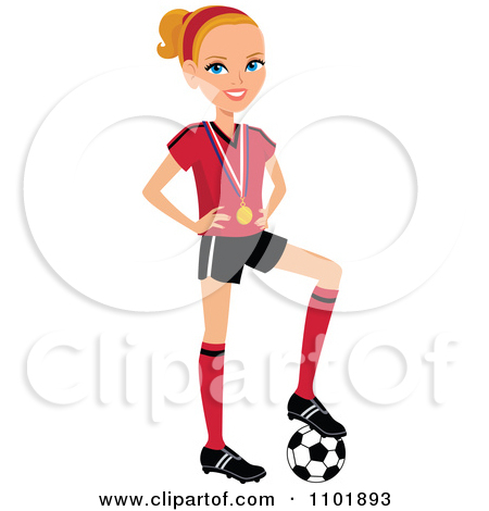 450x470 Players On Soccer Field Clipart