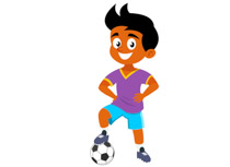 210x153 Soccer Player Clip Art Many Interesting Cliparts
