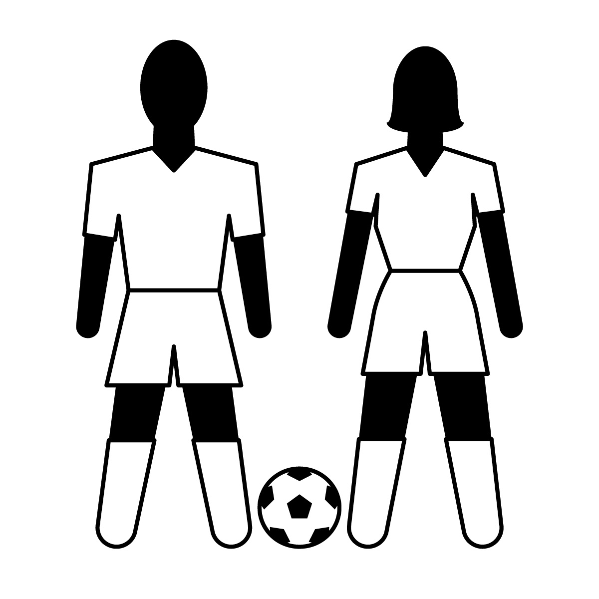 1200x1200 Soccer Player Clipart