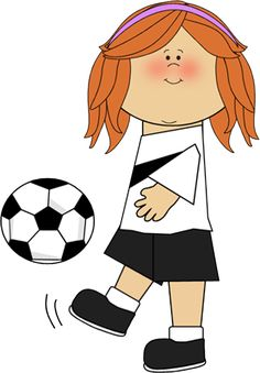 236x339 Little Girl Playing Soccer Clipart