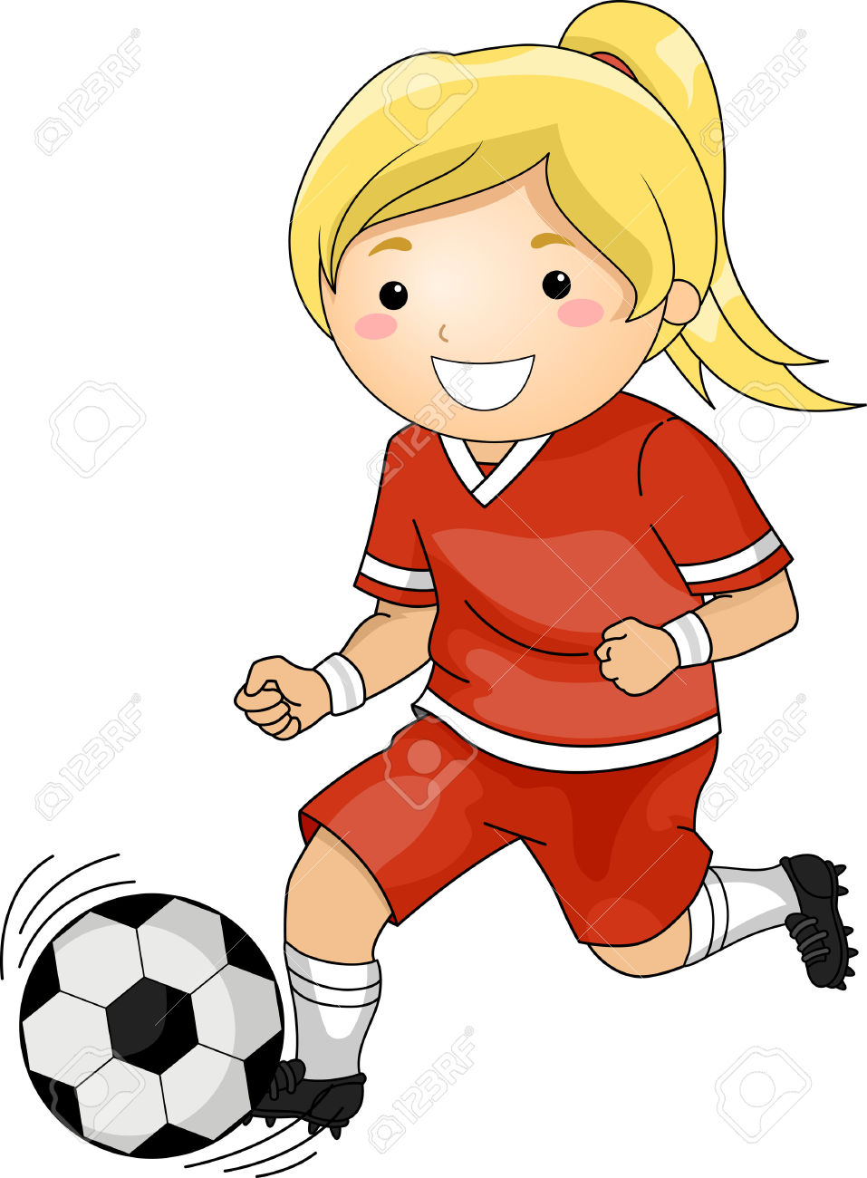 957x1300 Playing Soccer Clipart