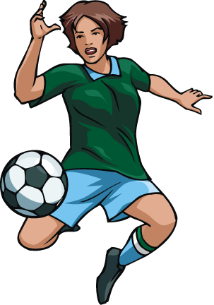 303x432 Free Girl Soccer Player Vector Clip Art Image From Free Clip Art