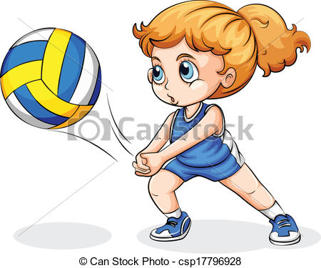 450x375 Girl Clipart Volleyball Player