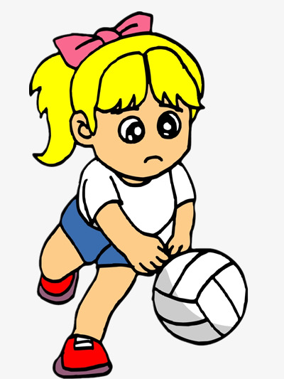 400x533 Girl Playing Volleyball, Color, Character, Cartoon Png Image
