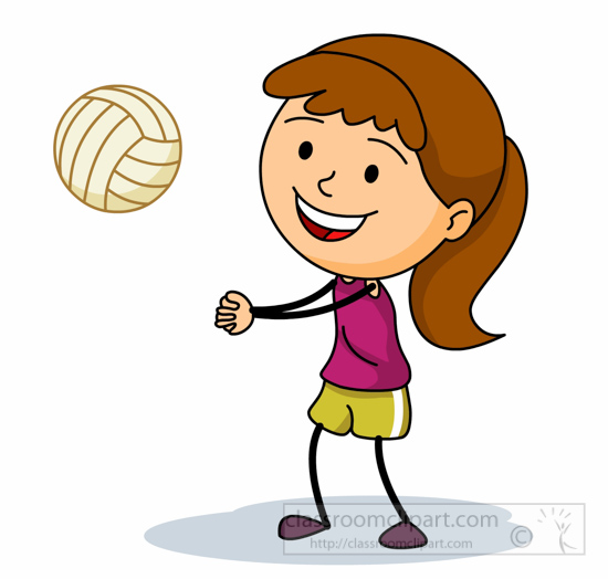550x524 Playing Volleyball Clipart