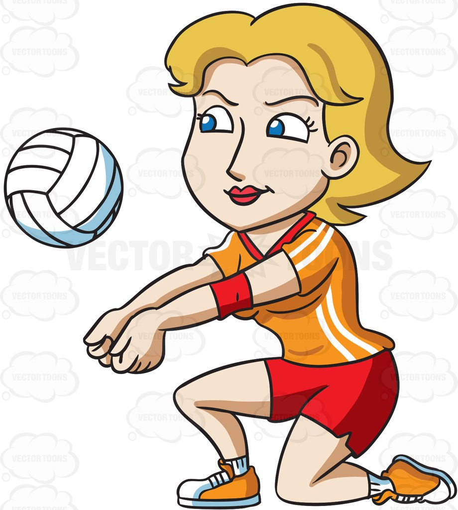 920x1024 A Female Volleyball Player Kneeling To Hit A Ball Female