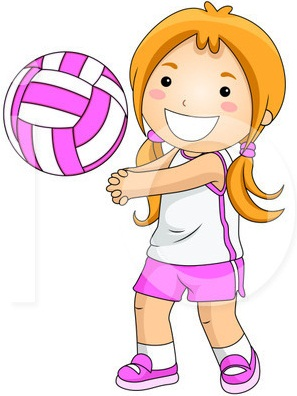 297x396 Volleyball Player Clipart