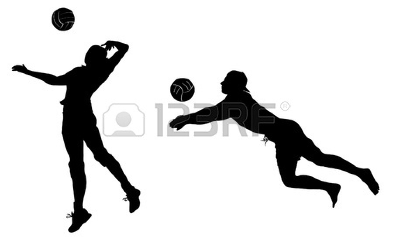 1350x825 Volleyball Player Silhouette Clipart Clipart Panda