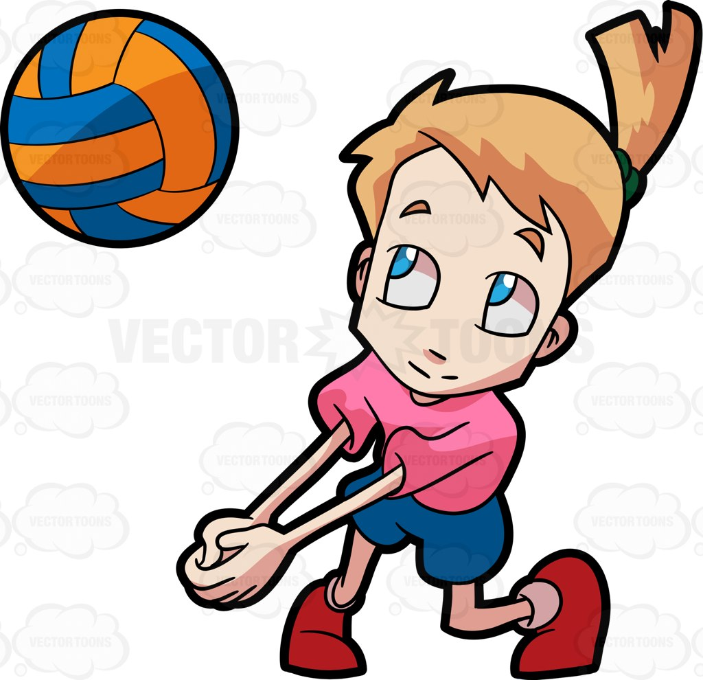 1024x990 A Girl Playing Volleyball