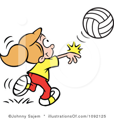 400x420 Free Clipart Girl Volleyball Player