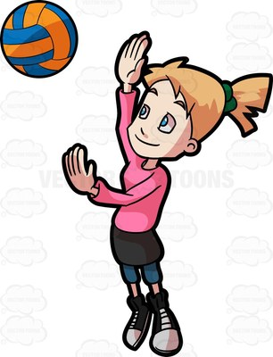 306x400 A Preadolescent Female Playing Volleyball At Loungers On The Beach