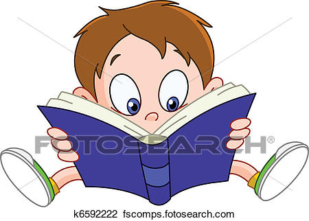 450x322 Clipart Of Boy Reading Book K6592222