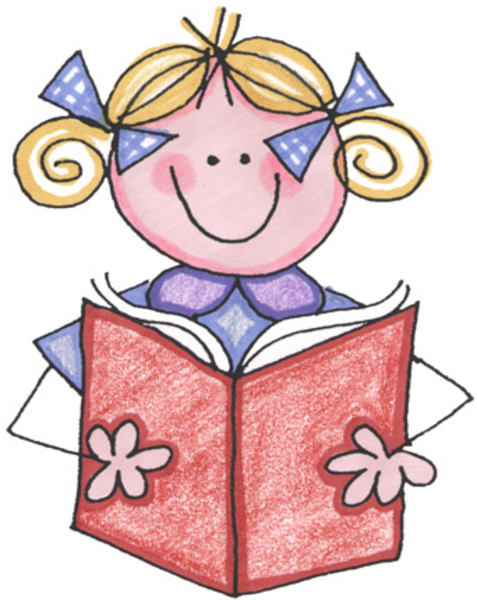 477x600 Stick Girl Reading A Book Clipart