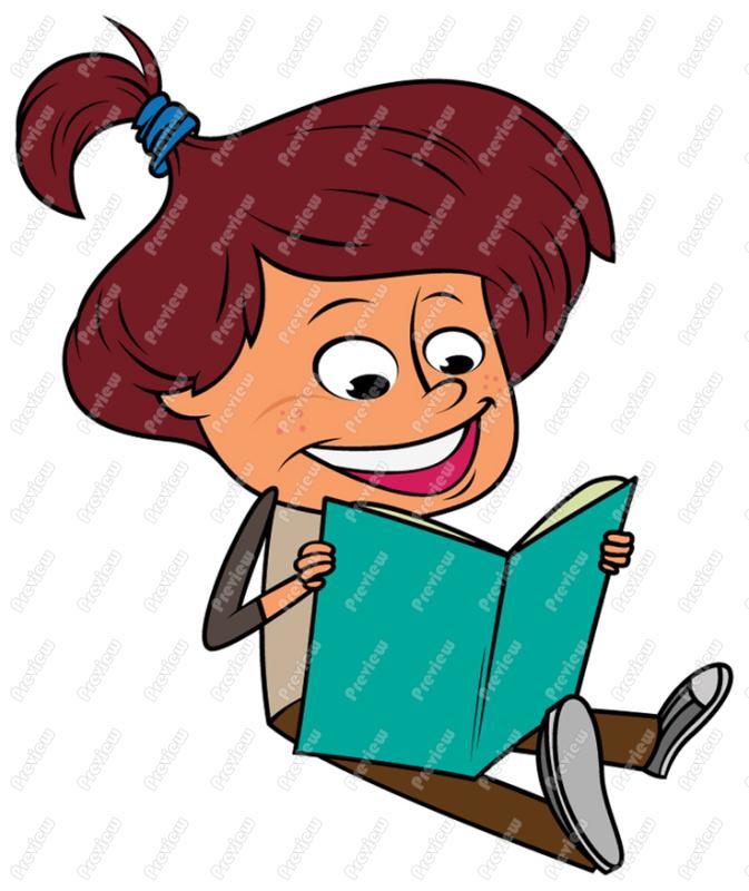 673x800 Girl Child Reading Clip Art