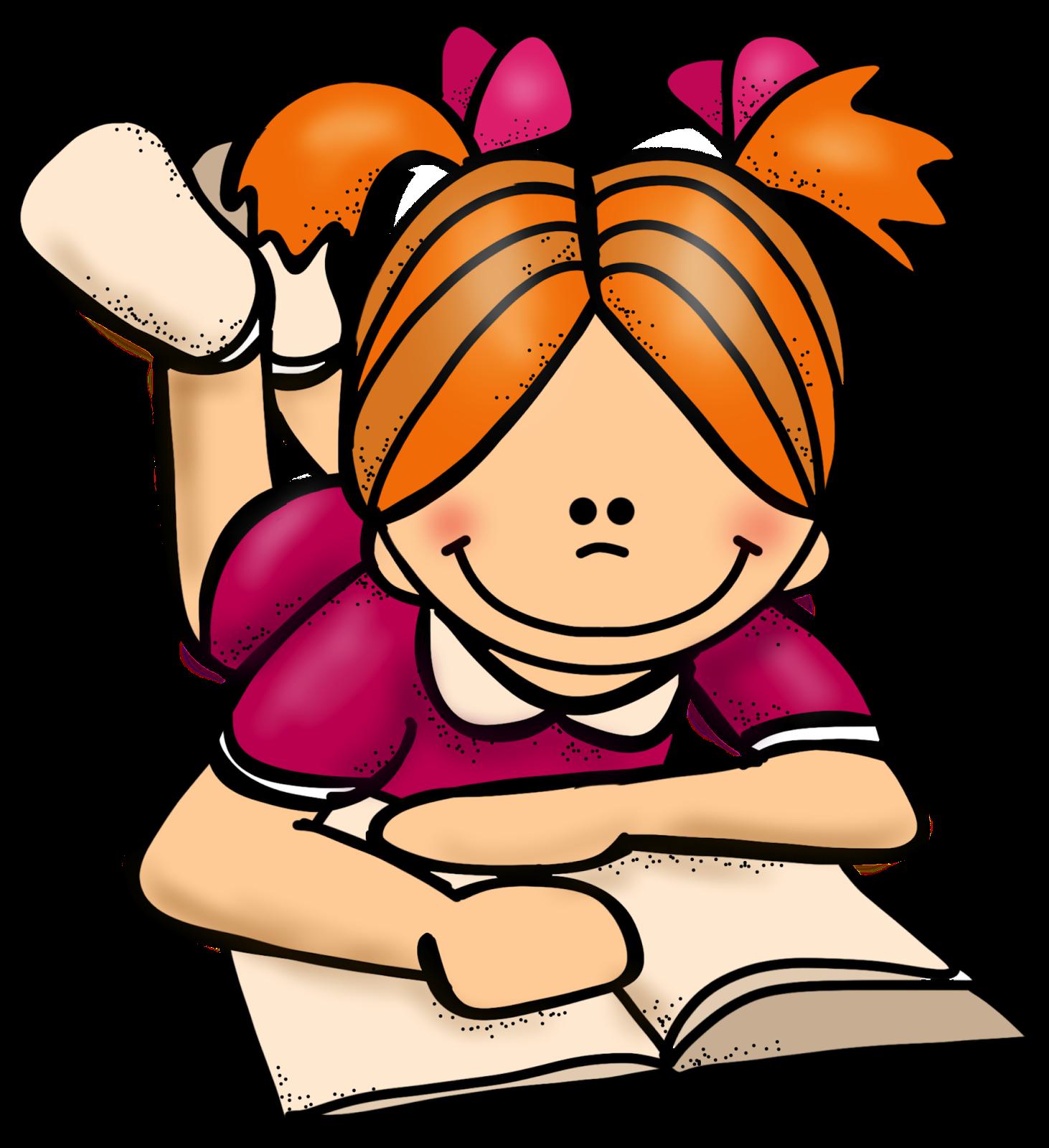 1462x1600 Girl Reading Clipart