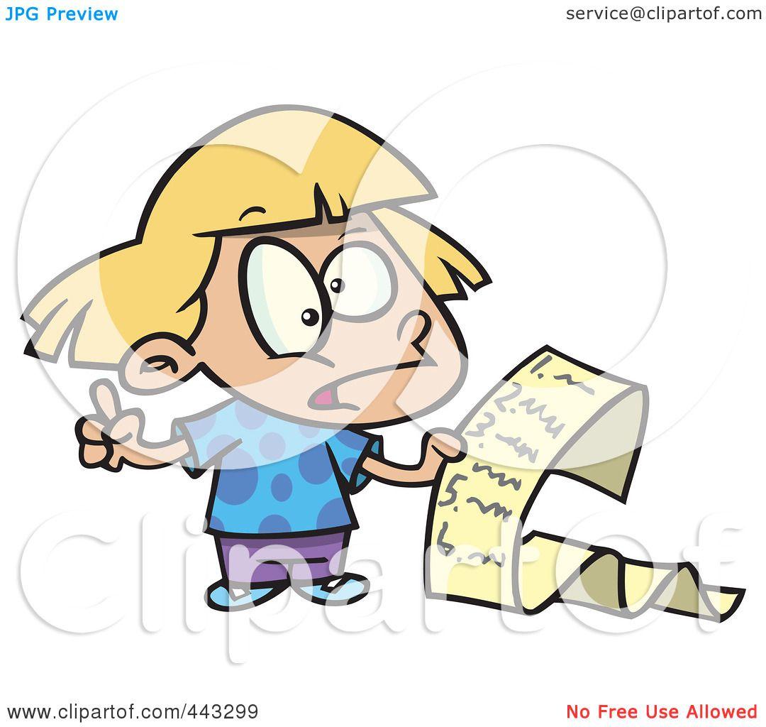 1080x1024 Royalty Free (Rf) Clip Art Illustration Of A Cartoon Girl Reading