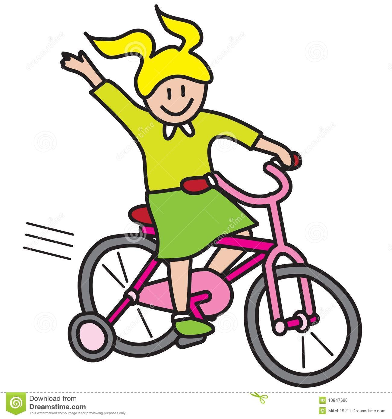 1300x1390 Clipart Of A Little Girl Riding A Bike