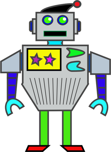 Girl Robot Clipart