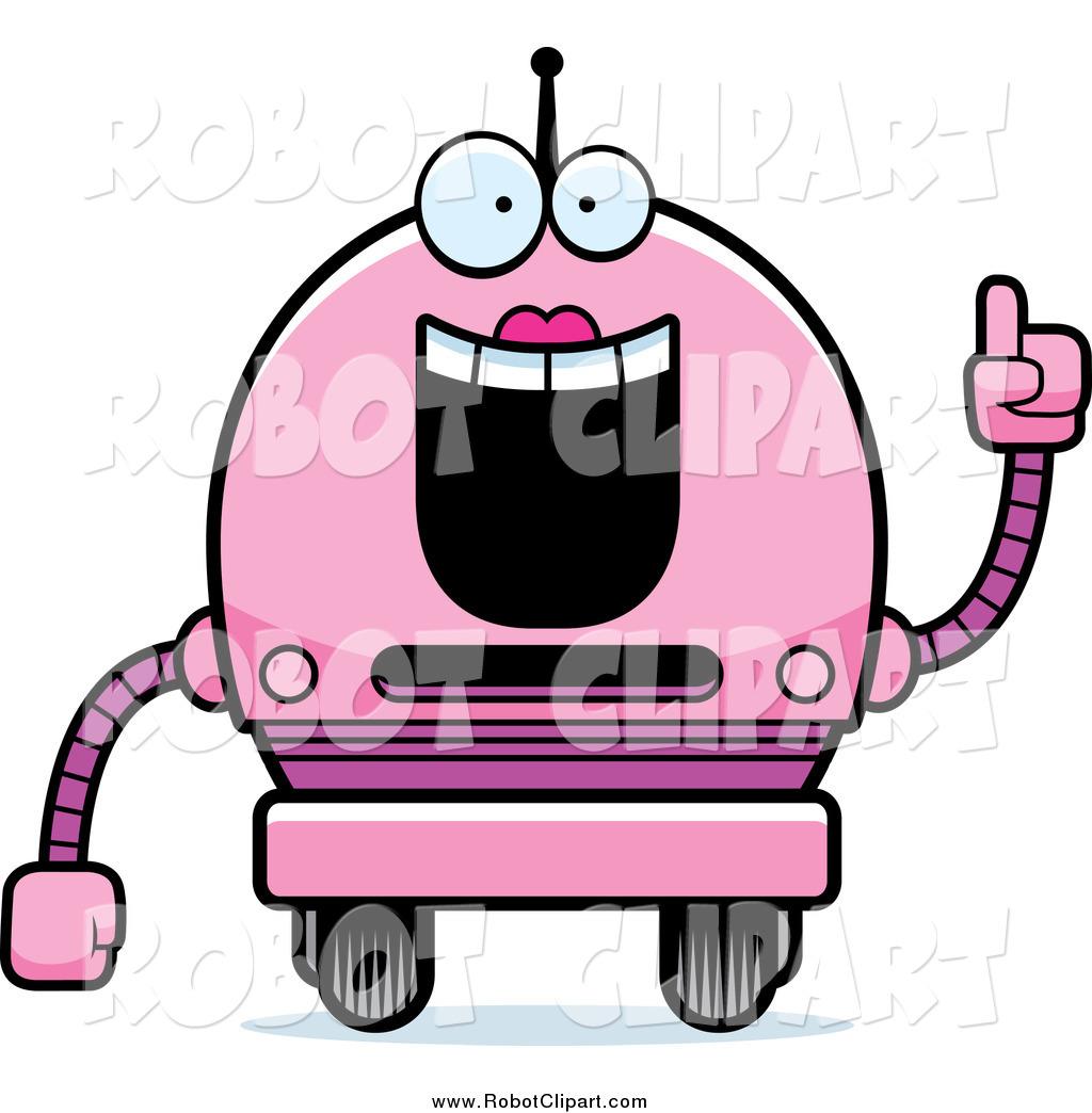 1024x1044 Robotics Clipart Clipart Of A Smart Pink Robot Girl With An Idea
