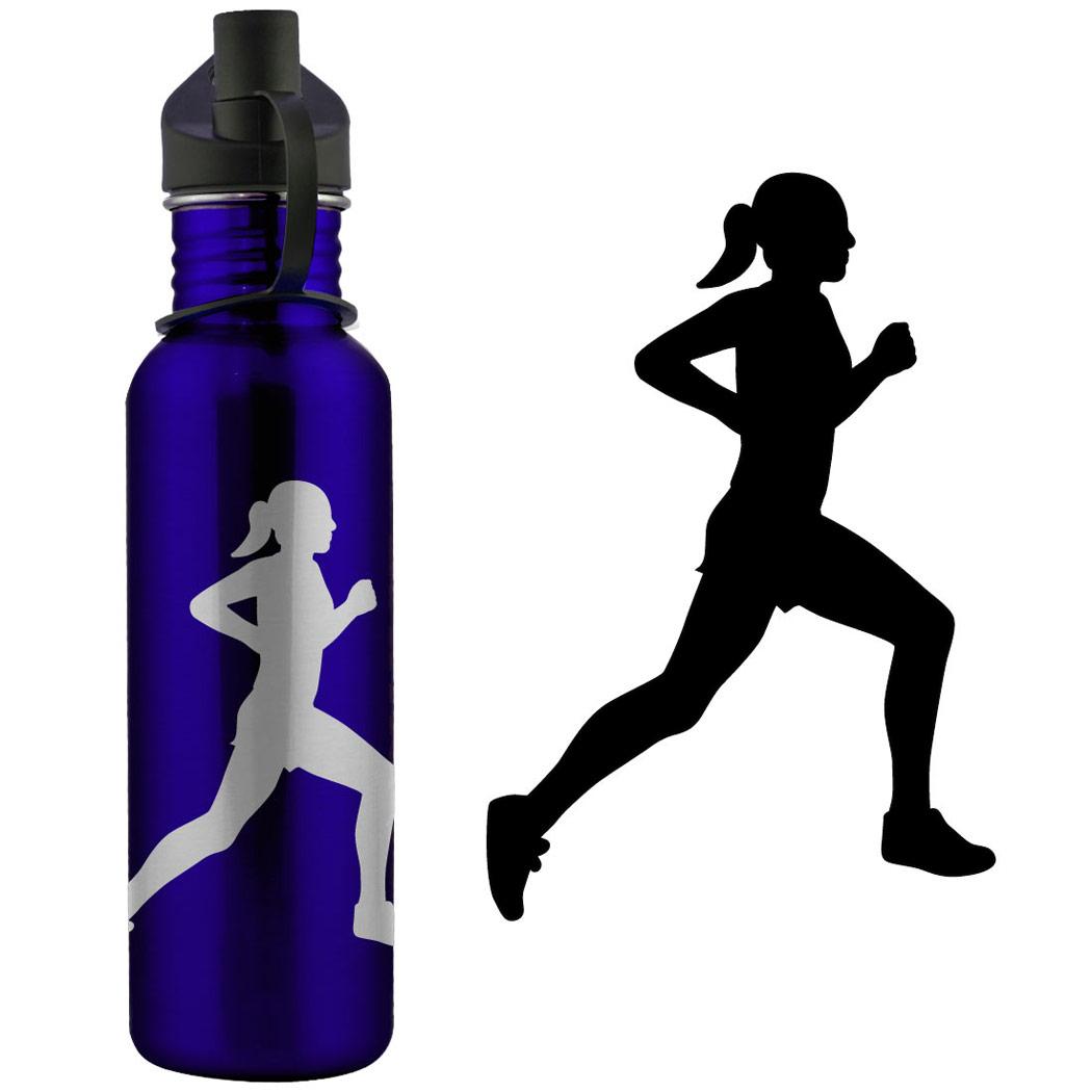 1050x1050 Girl Running Silhouette Clipart