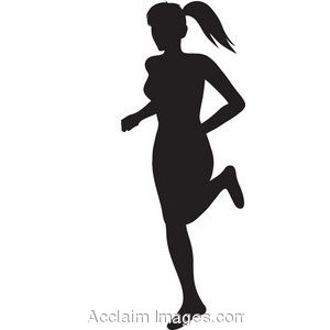 300x300 Girl Silhouette Clipart
