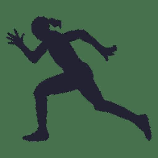 512x512 Girl Running Hard Silhouette
